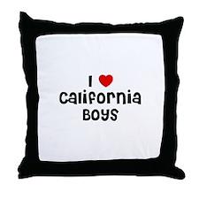 I * California Boys Throw Pillow