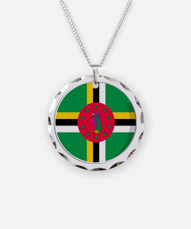 Cool Dominican flag designs Necklace