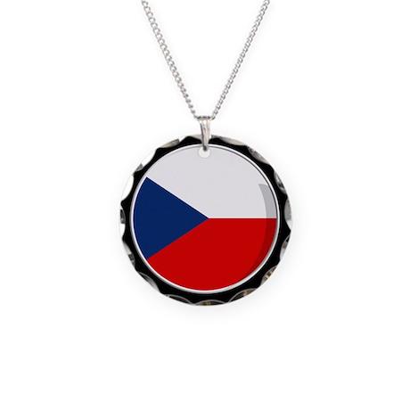 Cool Czech flag designs Necklace Circle Charm
