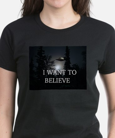 I Want to Believe Women's Dark T-Shirt