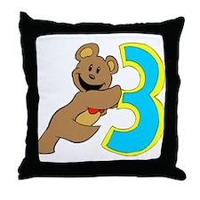 Teddy bear 3 year old Throw Pillow