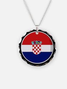 Cool Croatian flag designs Necklace