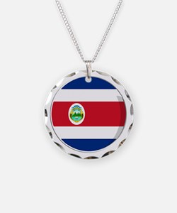Cool Costa rican flag designs Necklace