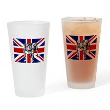British Bulldog Flag Pint Glass