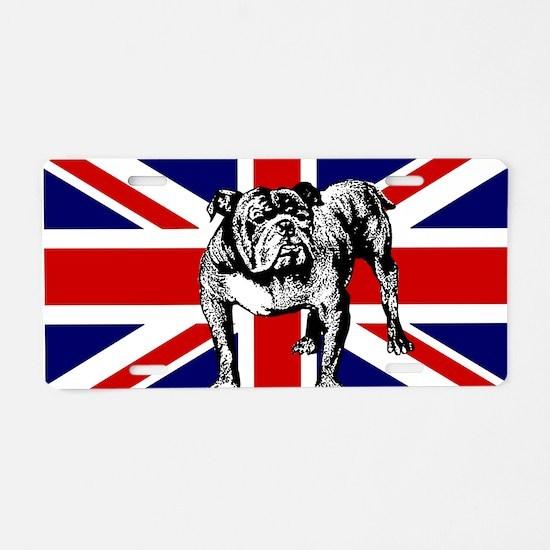 British Bulldog Flag Aluminum License Plate