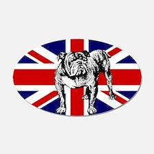British Bulldog Flag 38.5 x 24.5 Oval Wall Peel