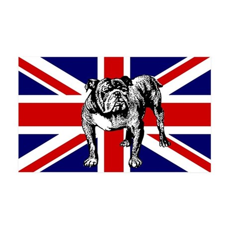 British Bulldog Flag 38.5 x 24.5 Wall Peel