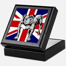 British Bulldog Flag Keepsake Box