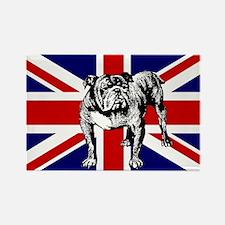 British Bulldog Flag Rectangle Magnet (10 pack)