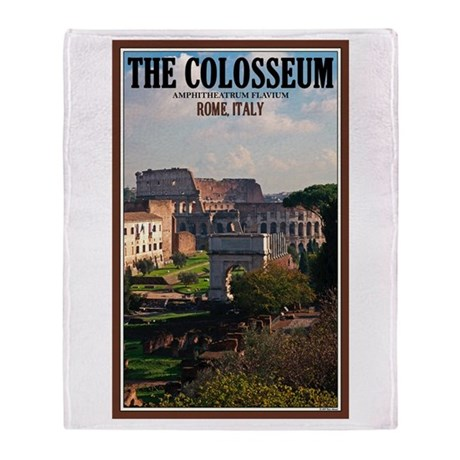 Forum View of Colosseum Throw Blanket