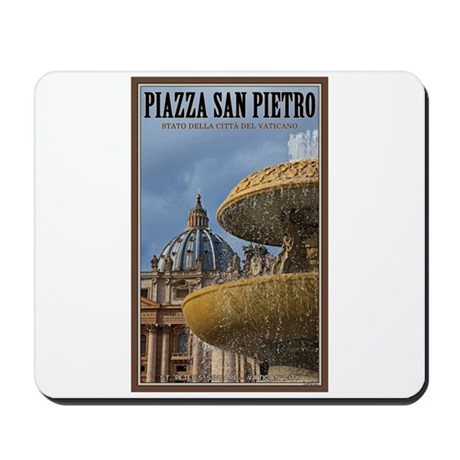 St. Peters Sq Fountain Mousepad