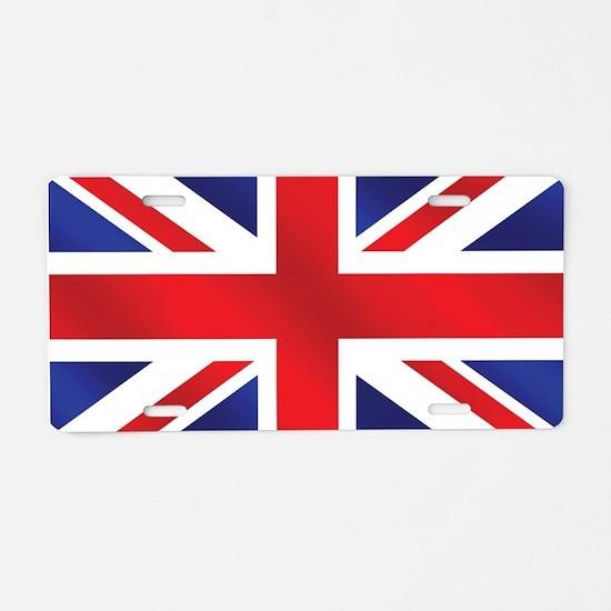Union Jack UK Flag Aluminum License Plate