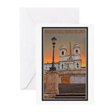 Spanish Steps Greeting Cards (Pk of 10)