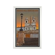Spanish Steps Rectangle Magnet