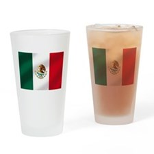 Mexican Flag Drinking Glass
