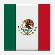Mexican Flag Tile Coaster