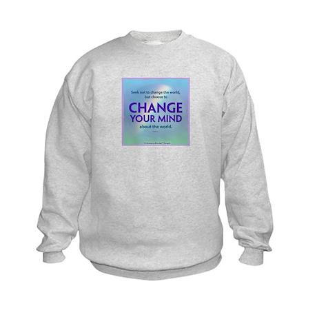 ACIM-Seek Not to Change the World Kids Sweatshirt