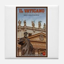 Vatican City Statues Tile Coaster