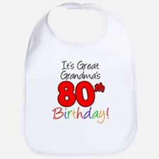 Great Grandma's 80th Birthday Bib