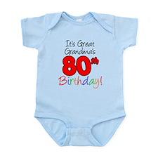 Great Grandma's 80th Birthday Infant Bodysuit