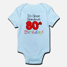 Great Grandma's 80th Birthday Infant Bodysuit