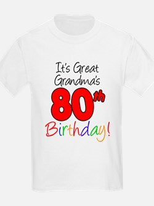 Great Grandma's 80th Birthday T-Shirt