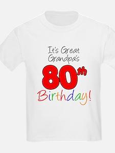 It's Great Grandpa's 80th Bir T-Shirt