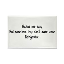 Haikus Are Easy Rectangle Magnet