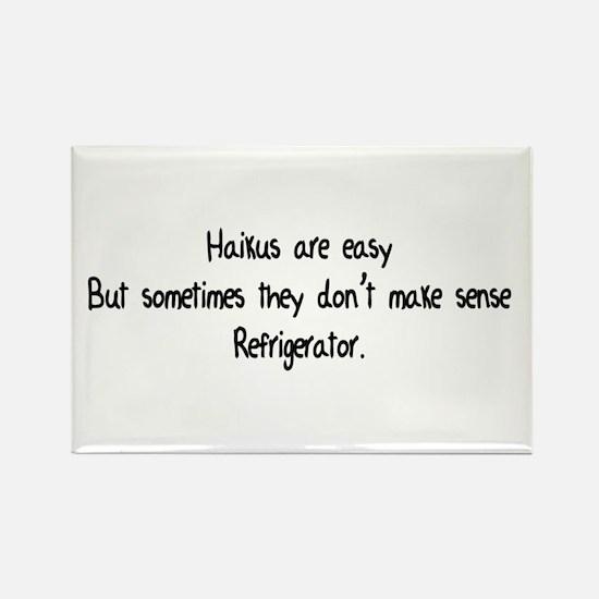 Haikus Are Easy Rectangle Magnet