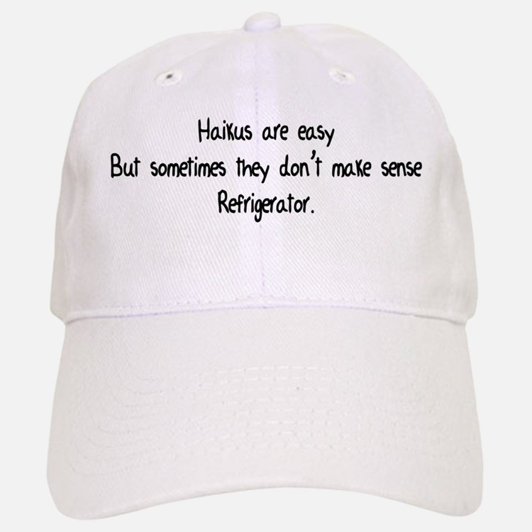 Haikus Are Easy Baseball Baseball Cap