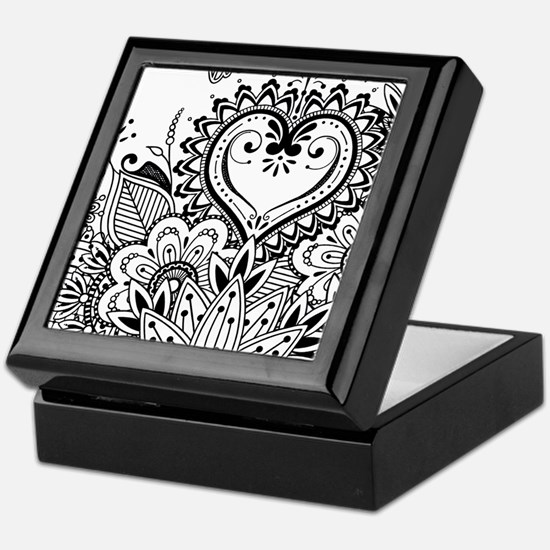 Cute Tattoo flowers Keepsake Box