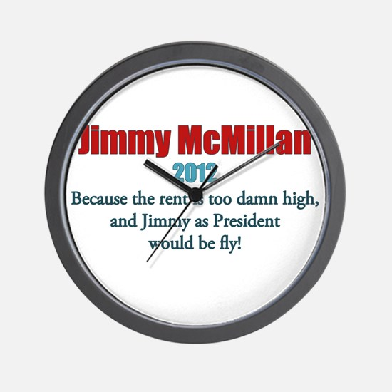 Jimmy McMillan 2012 Wall Clock