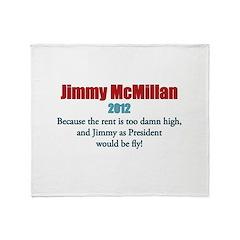Jimmy McMillan 2012 Throw Blanket