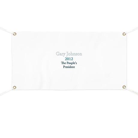 Gary Johnson 2012 Banner