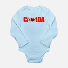 Canada Long Sleeve Infant Bodysuit
