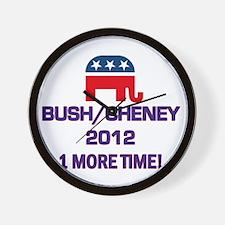 Bush Cheney 2012 Wall Clock