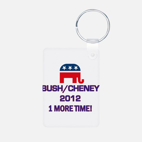 Bush Cheney 2012 Aluminum Photo Keychain