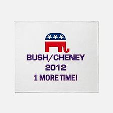 Bush Cheney 2012 Throw Blanket