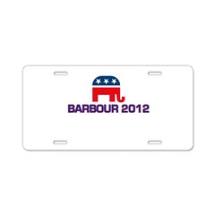 Barbour 2012 Aluminum License Plate