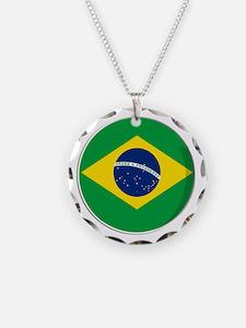 Cool Brazilianl flag designs Necklace