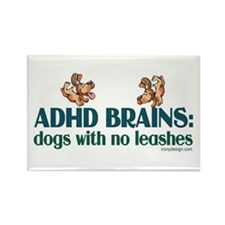ADHD BRAINS Rectangle Magnet