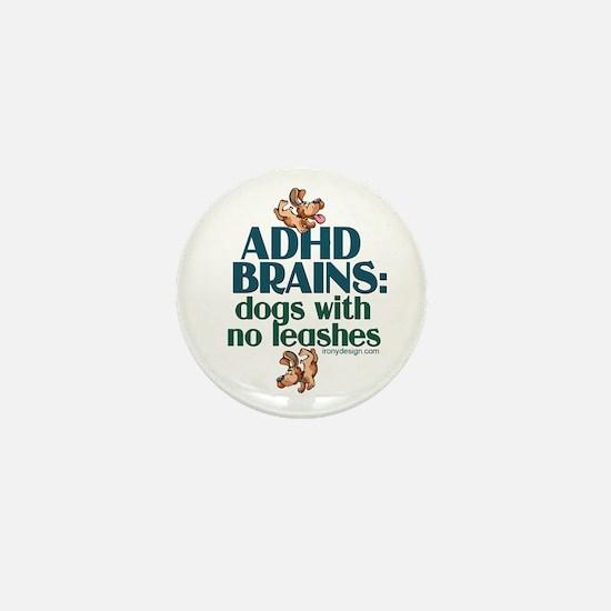 ADHD BRAINS Mini Button