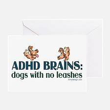 ADHD BRAINS Greeting Card