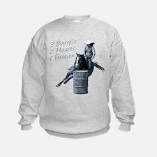 barrel racing horse black Sweatshirt