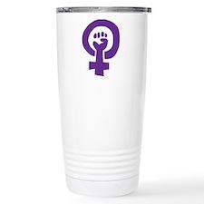 Feminist Pride Symbol Travel Mug