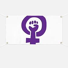 Feminist Pride Symbol Banner