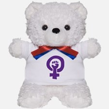 Feminist Pride Symbol Teddy Bear