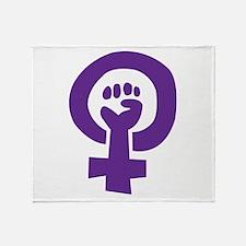 Feminist Pride Symbol Throw Blanket