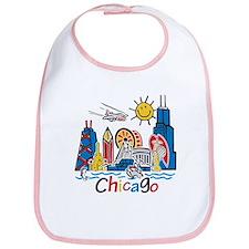 Chicago Cute Kids Skyline Bib