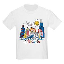 Chicago Cute Kids Skyline T-Shirt